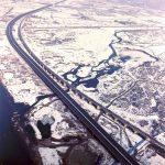Ponte dei Vodi - Vista aerea dell'attraversamento dell'Avisio presso località Vodi (930 m)