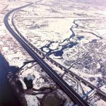 Vodi Bridge - Aerial view of the bridge crossing the Aviso River close to the Vodi location (930 m)