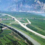 Svincolo di San Michele - Veduta dello svincolo di S. Michele-Mezzocorona a nord di Trento