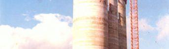 Sili - Sili di stoccaggio del cemento con capacità 14.000 t