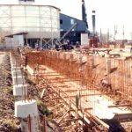 Getto dei plinti di fondazione - Terminal progettato con una capacità di 60.000 tonnellate