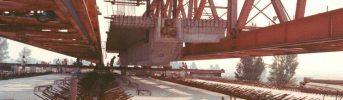 Travi in cemento armato precompresso - Travi lunghe fino a 86,5 m, larghe 4,1 e pesano fino a 440 t