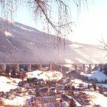 Viadotto finito - Veduta invernale del viadotto con lunghezza complessiva di 1030 m