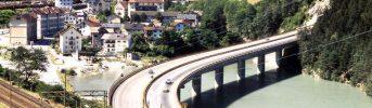 Il ponte - Attraversamento del lago artificiale di Fortezza