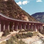 The viaduct - Top view of the viaduct in the motorway section between Bolzano and Chiusa