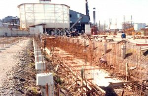 Casting of the foundations - Terminal designed for a storage of 60,000 tons